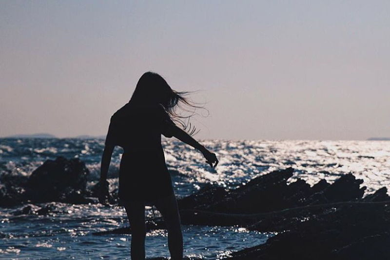 Sad teens with happy faces. Sea Sea And Sky Waves Waves, Ocean, Nature Life Is A Beach Chill Girls Peaceful Peace View First Eyeem Photo