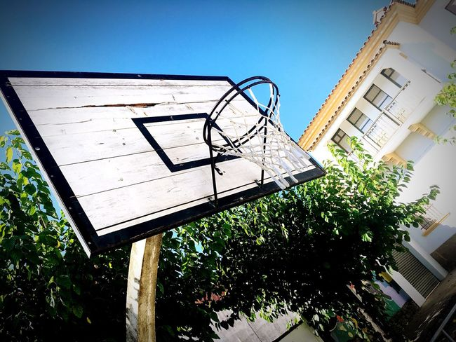 Basketball in Navàs Basketball Navàs Sky Blue Sky Wood Old Weathered