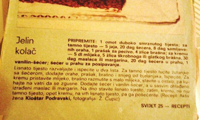 Evo origigi recepta iz Svijeta!