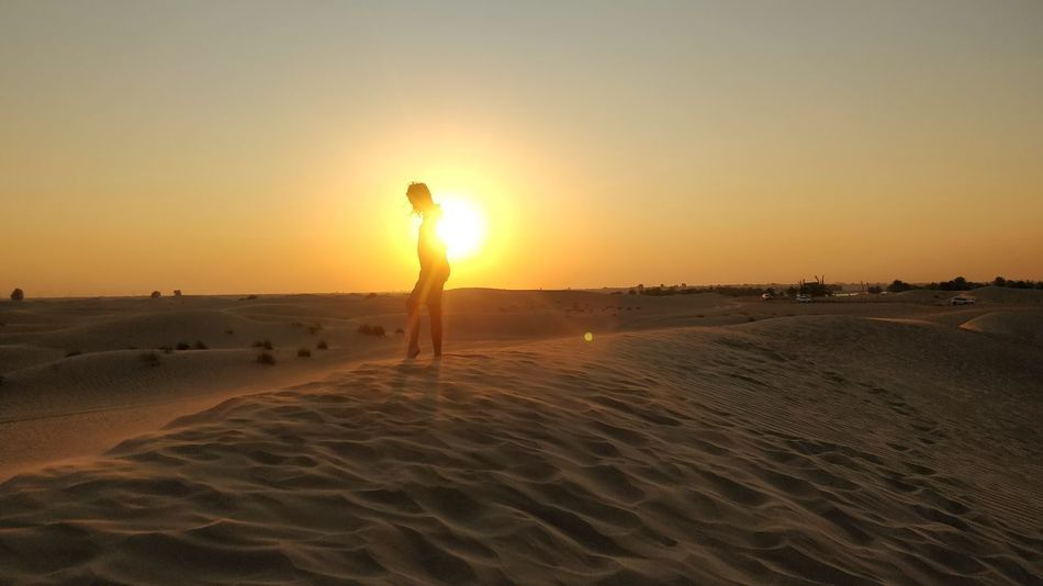 Capture Tomorrow Sand Dune Full Length Desert Sunset Beach Standing Sand Technology Men Wireless Technology Arid Climate Arid Landscape Calm Atmospheric Photographing Self Portrait Photography Camera Photo Messaging Digital Camera Camera - Photographic Equipment