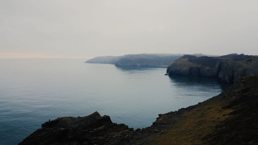 Beauty In Nature Cliff Day Horizon Over Water Idyllic Nature No People Outdoors Rock - Object Rock Formation Scenics Sea Sky Tranquil Scene Tranquility Water