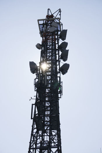 Telecommunication tower Antenna, Cell phone tower Communication Radio Telecommunication Antenna Broadcasting Day MAS No People Outdoors Sky Technology Technology I Can't Live Without Telecommunication Tower