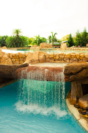 Aquapark Flowing Water Pond Relaxing Moments Relaxing Time Rest Splashing Stone Tropical Climate Vacation Voyage Water Waterdrops Waterfall Wet