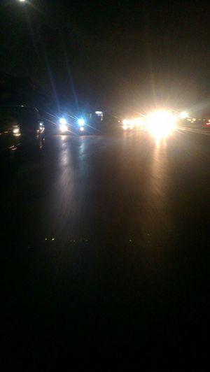 Walking Around Taking Photos Night Latakia  Soir Car Lights Lights