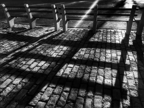 Night stroll. Night Lights Shadows & Lights Nightphotography Night Shadows Park Park Bench Blackandwhite Blackandwhite Photography Walking Around Outside City Life No People FiveSigmaPhoto Long Shadows Showcase: February Learn & Shoot: After Dark The Magic Mission Overnight Success TakeoverContrast The Graphic City