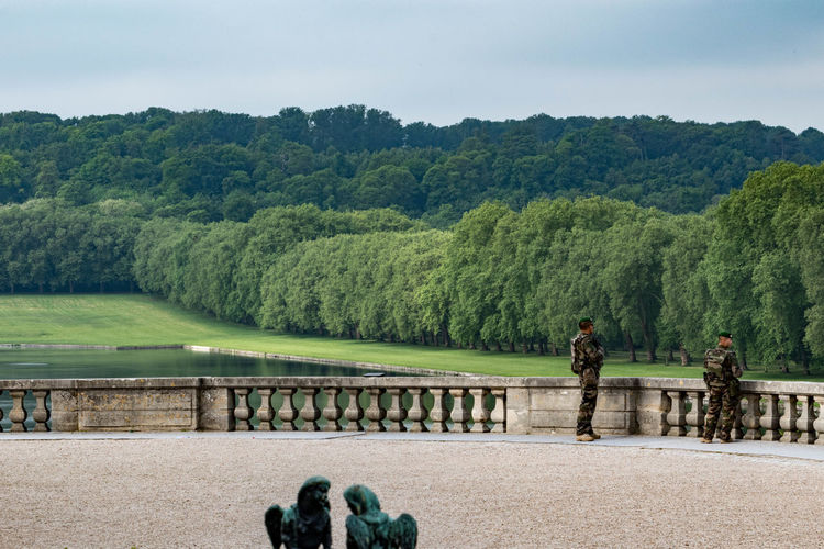 Soldiers on patrol France Security The Week On EyeEm Versailles Army Soldier Military Nature Outdoors