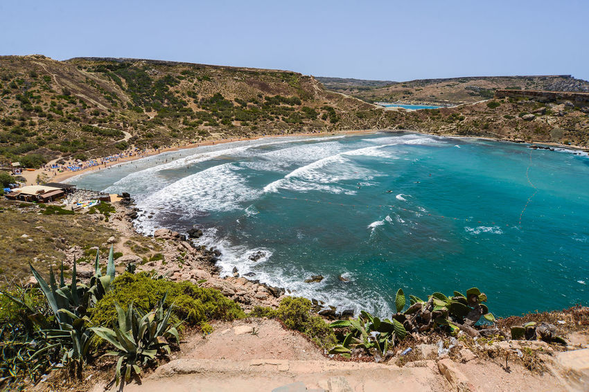 Cactus Hotels Malta Vacations Beach Beauty In Nature Blue Blue Water Bluse Sea Clear Sky Day Golden Bay Landscape Maltaphotography Maltese Mountain Nature No People Outdoors Plant Scenics Sea Sky Tranquil Scene Tranquility Tree Troy Turism Water Waves