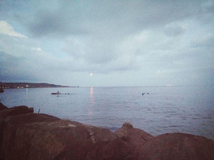 лунная дорожка Water Sea Beach Sand Mountain Sky Horizon Over Water Cloud - Sky