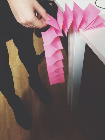 On Paper Notes Post Its Pink