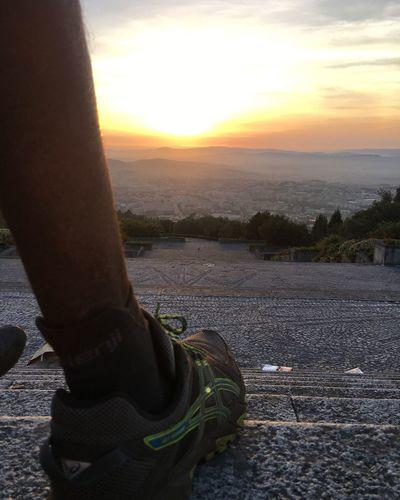 Iphonephotography Sky Sunset Landscape Lifestyles Trailrunning Outdoors Braga Ascis Running Sport