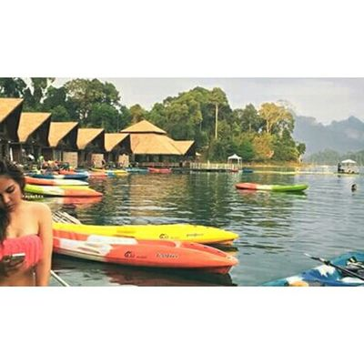 Leisure life. Relaxing Enjoying Life Asian Culture Thailand Culture Sky And Clouds Suratthani Kaosok Swimming