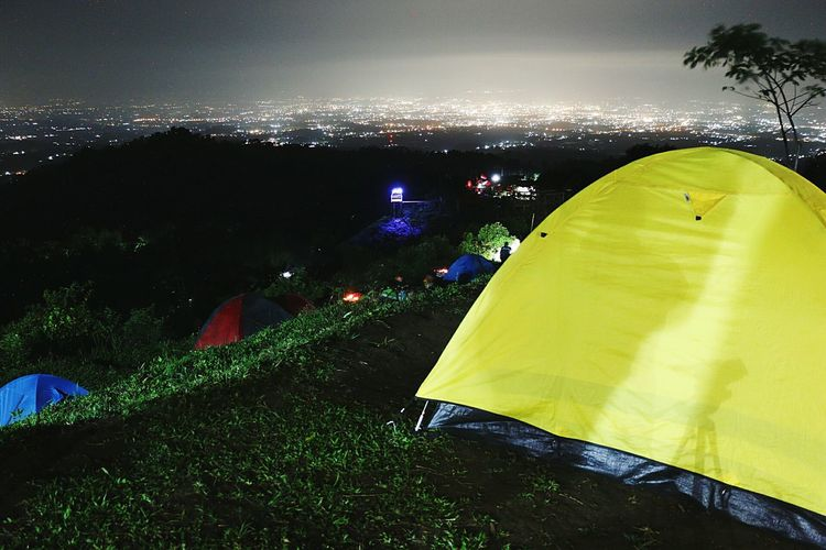 Tent Camping Night Outdoors Landscape People Sky Nature Illuminated