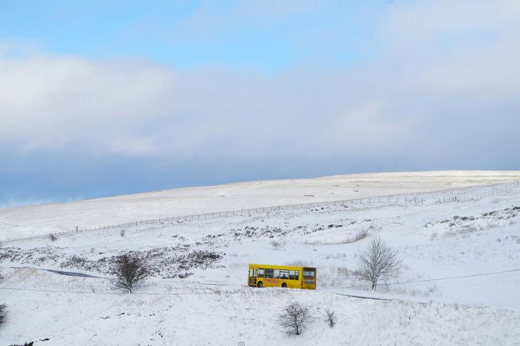 How's The Weather Today? Warm in the yellow bus. Tynedale Winter