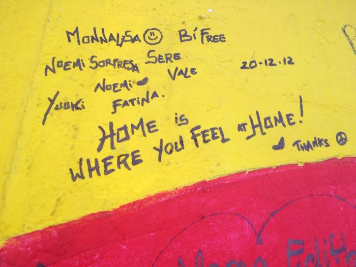 Home is where you feel at home. Word. Been saying it all along.