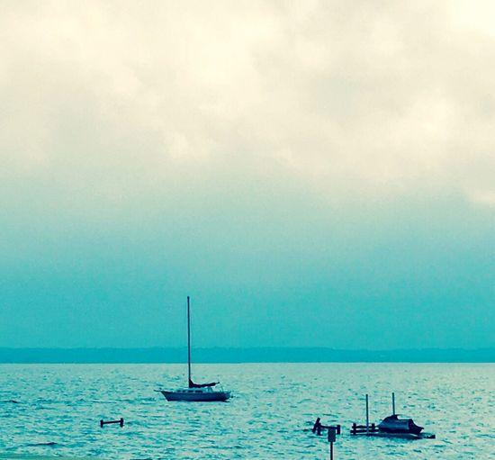 Boats sailing in sea
