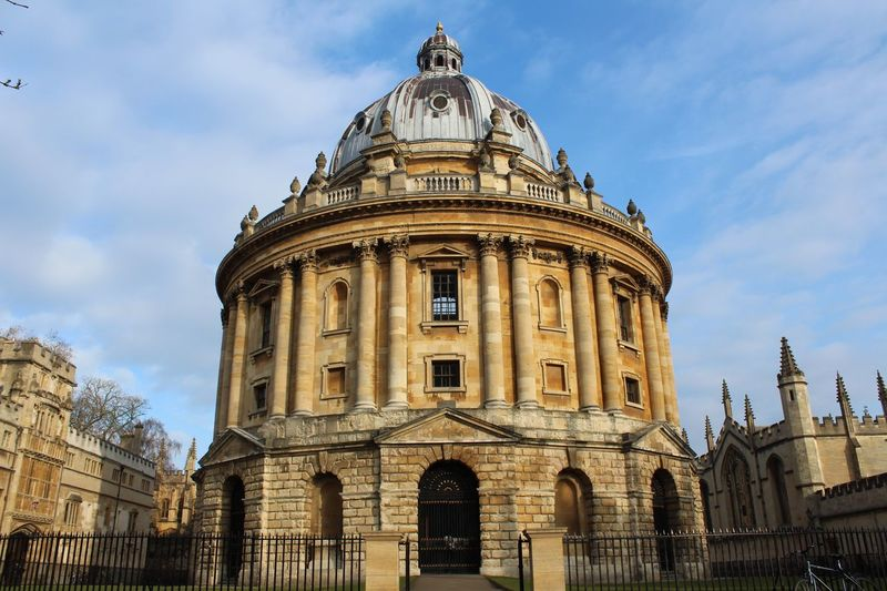 Radcliffe Camera Architecture Sky Built Structure Building Exterior Low Angle View Cloud - Sky Dome History Day Outdoors No People Travel Destinations