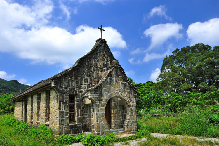 Architecture Base Country Building Building Exterior Built Structure Church Cloud - Sky Day History House Nature No People Outdoors Sky Stone Taiwan Tree