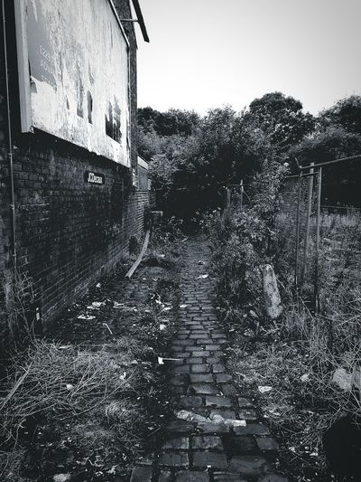 Back Alleys Outdoors Rain No People Black And White