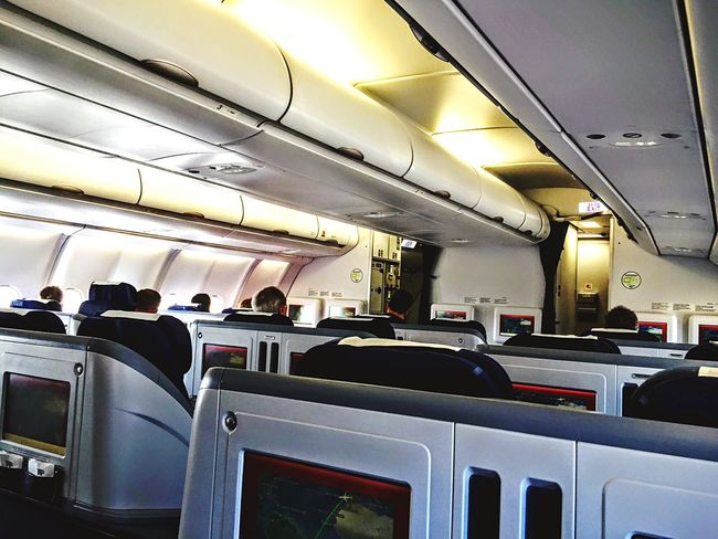 Sky Collection Airplane Cabin Airbus A330 Deceptively Simple InFlightPhoto Traveling Flying home!