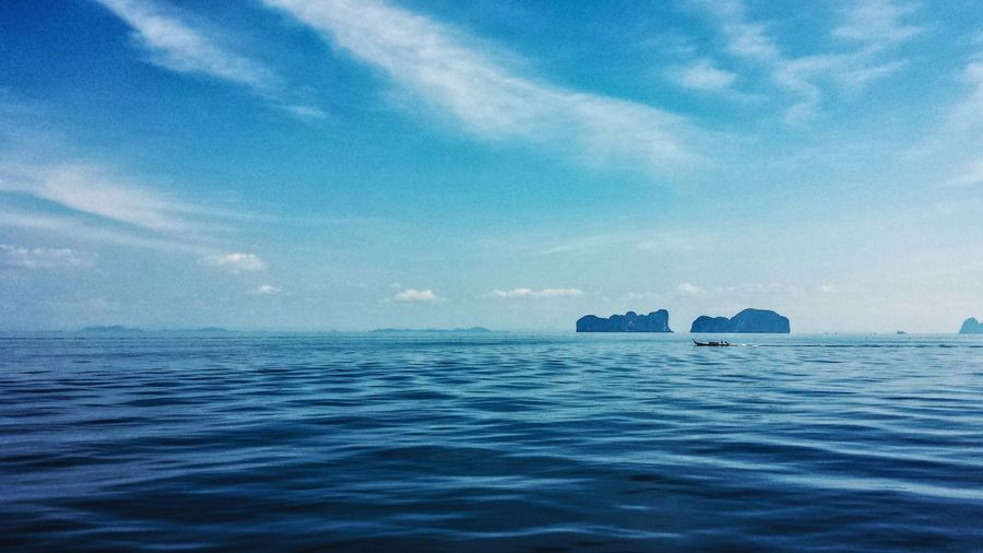 Scenic view of andaman sea against sky