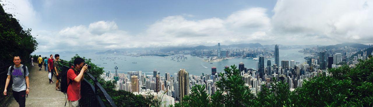 Thepeak HongKong Traveling Backpacking Wonderlust View Enjoying The View City Skyscrapers