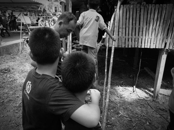 Kids Togetherness Family Fun Boys Festival Season Gawaidayak2017 Lundu Selampit Borneo Sarawak Awesome_captures Enjoyment Outdoors Playing Village Photography Places I've Been People Together HuaweiP9Photography EyeEm Best Shots - Black + White LunduSarawak