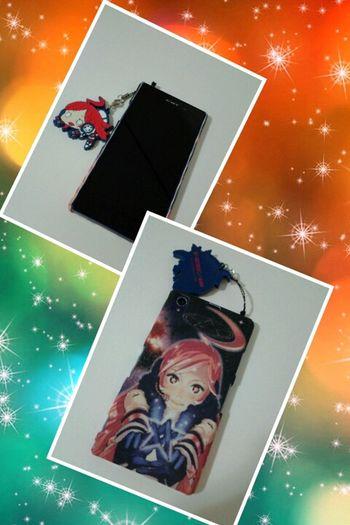 Novo celular frente e verso. Vocaloid Miki Sony Xperia Z1