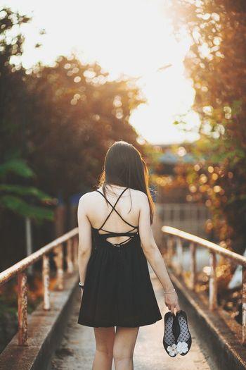 Portrait Girl Model Photoshoot Color Portrait Sunset_collection Pose Little Black Dress Shoes