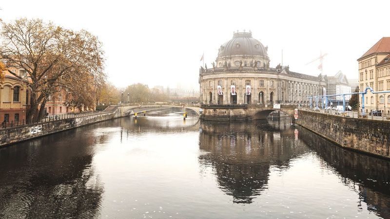 Where is the TV Tower? Architecture Built Structure Dome Building Exterior Travel Destinations History Bridge - Man Made Structure Tourism Outdoors Travel Sky Water Day City No People Berlin Spree Bode-museum Tree Cityscape