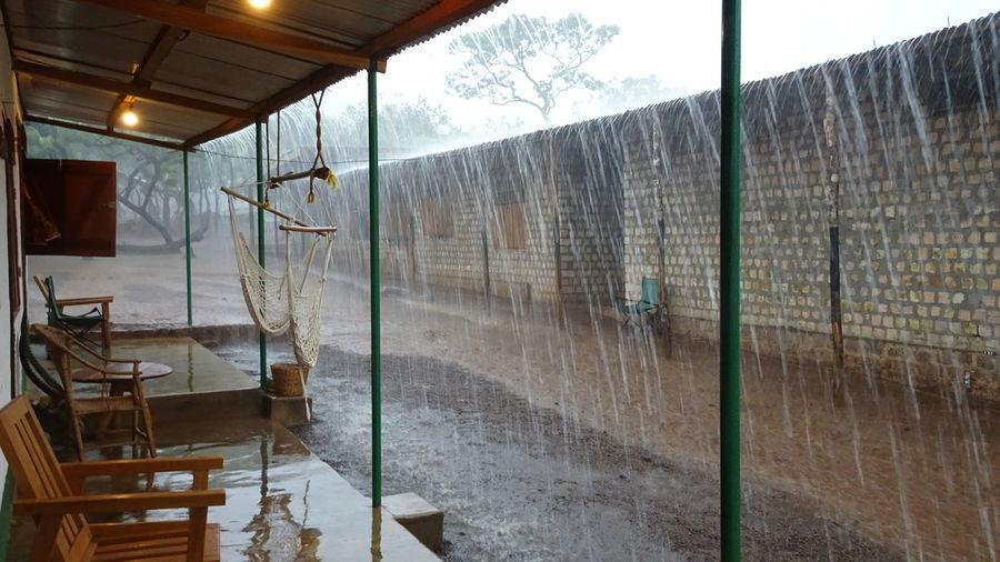 African Bush Bush Camp Day Off Flooding Heavy Rain No People Rain Period Stormy