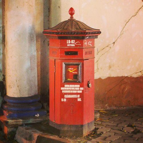 Indiapost Postal Postcrossing India Postbox Letters Memories Love Red Vintage British Kolkata Calcutta Travel Wanderlust