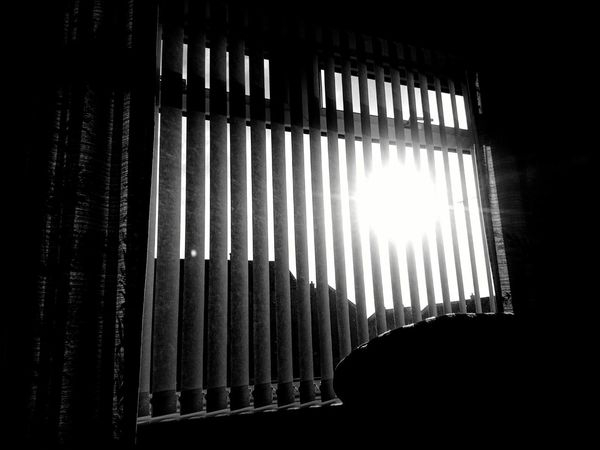 The sun through a window Uk Scotland Eye Em Scotland Sun Window Window Blinds B/w B/W Photography Glass Curtains Indoors Outdoors Silhouette Sunshine Sunlight Moody in Elgin, United Kingdom