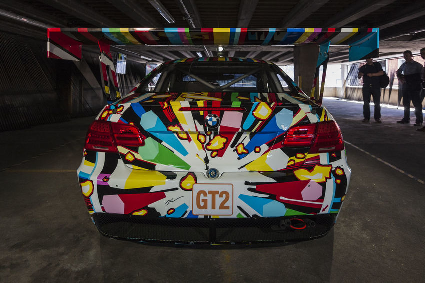 BMW M3 GT2 by Jeff Koons, 2010, BMW Art Cars exhibition, 35 Great Eastern Street, Shoreditch, London, England 2010 Art Car Architecture Art Car Art Cars Automobile Automotive Bmw BMW Art Car BMW M3 GT2 Built Structure Car Day England Gt2 Illuminated Jeff Koons London Men Multi Colored Outdoors People Real People Shoreditch Speed Sportscar