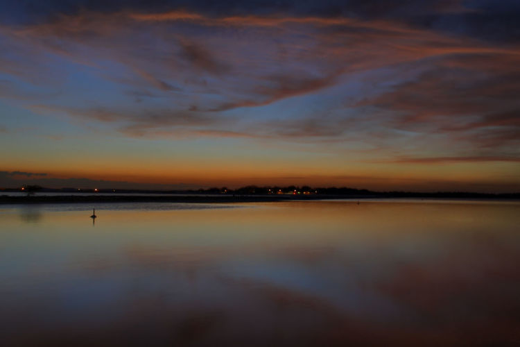 Beauty In Nature Cloud - Sky Day Dusk Nature No People Outdoors Reflection Scenics Sea Silhouette Sky Sunset Tranquil Scene Tranquility Water