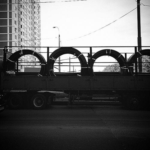 __________________________________ Transportation Truck Bw Podolsk Russia транспорт грузовик чб Подольск Россия __________________________________