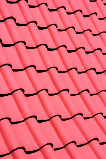 Color Red Roof Tiles In summer in Thailand Tile Living Rural Holiday Roof Red Roof Hottie Hot Home Thailand Light Morning Travel Rainy Season Summer Healthcare Healthy Pink Color Backgrounds Pattern Full Frame Repetition Abstract Textured  Red No People Multi Colored Textile Close-up Day