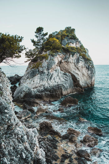 Some pre summer shots Rock Rock - Object Water Solid Sea Sky Beauty In Nature Rock Formation Nature Tranquility Scenics - Nature Clear Sky Tranquil Scene Land No People Plant Day Tree Beach Outdoors Eroded Rocky Coastline Formation Stack Rock