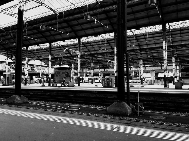 Train Station Black And White Blackandwhite