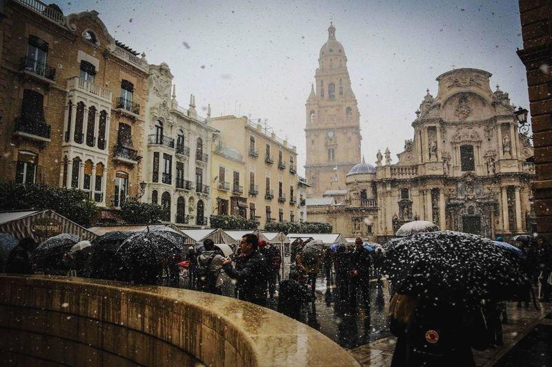 Viendo nevar en