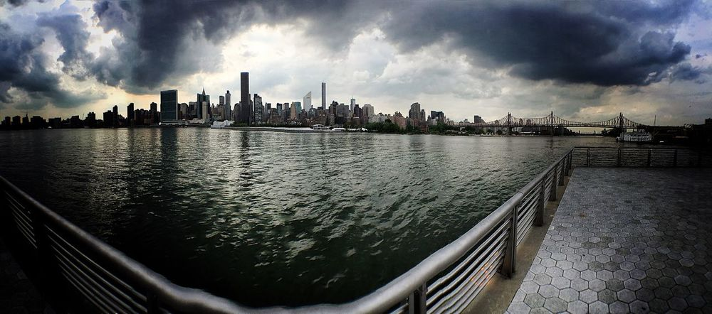 """Look deep into my eyes....and this is what you will see"" Queens looking at the Cityofdreams  NYC panorama shot...🙌🏻"