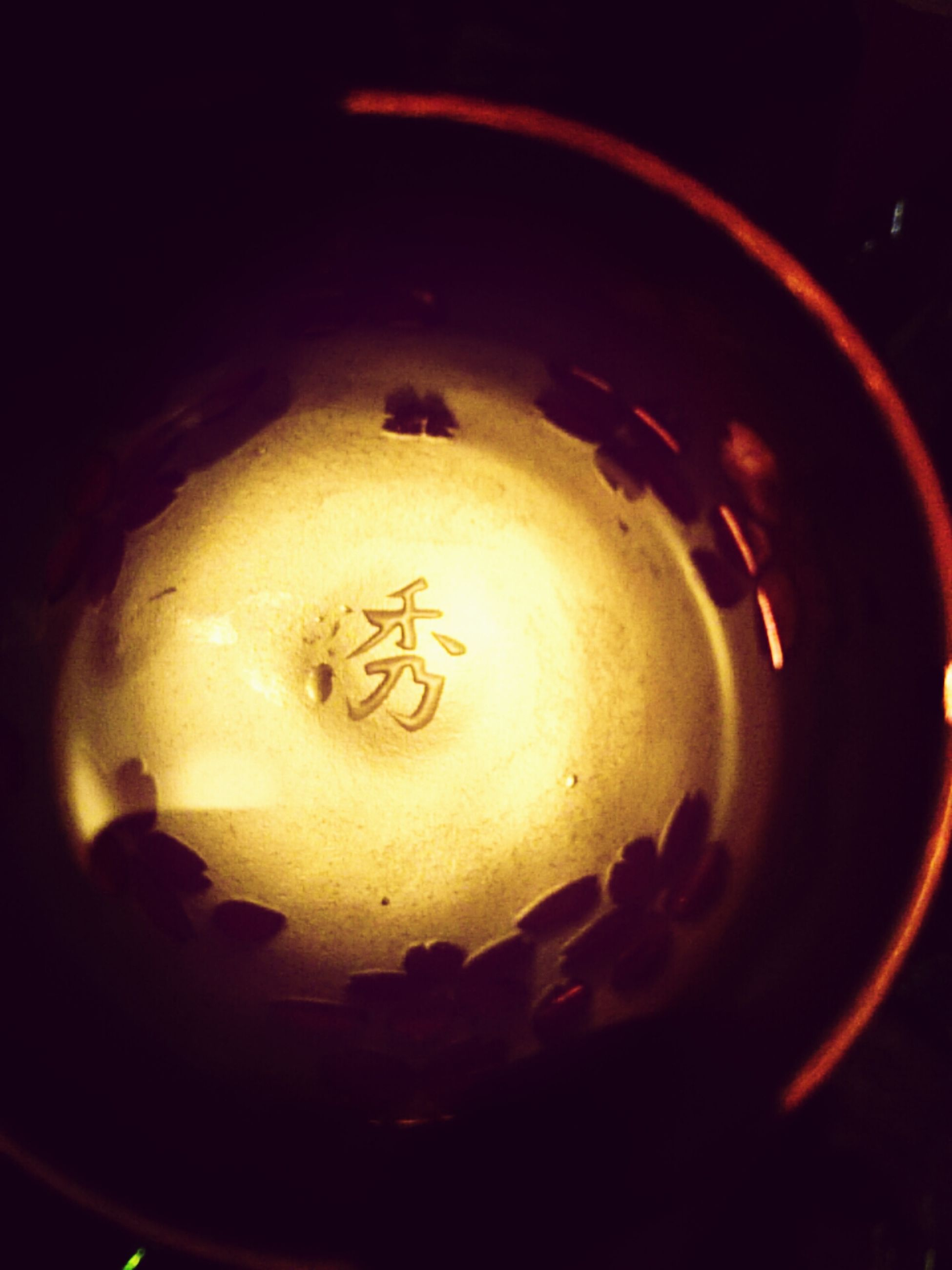 indoors, illuminated, close-up, lighting equipment, burning, glowing, still life, candle, flame, lit, heat - temperature, electricity, light - natural phenomenon, art, creativity, single object, art and craft, no people, circle, fire - natural phenomenon