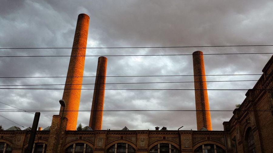 Golden Sunset Abandoned Factory Chimneyporn