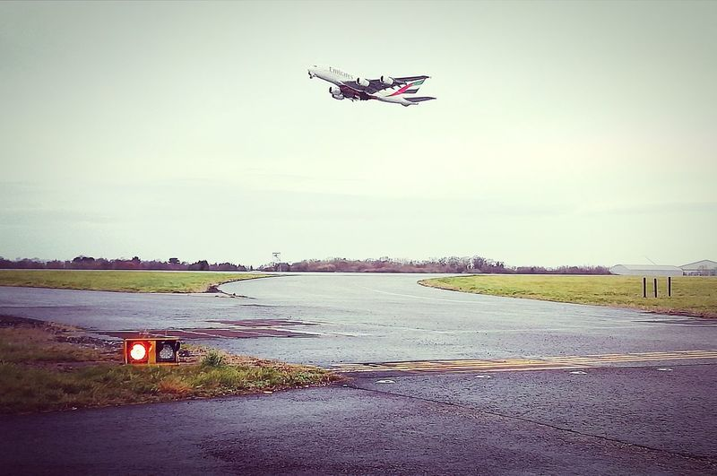 Take off Runway Airport Runway Airport Manchester Airport Uk England Winter Sky Flight ✈ Up And Away Plane Spotting Plane Shots Airplane Flying Photography Themes Mid-air Air Vehicle Technology Clear Sky