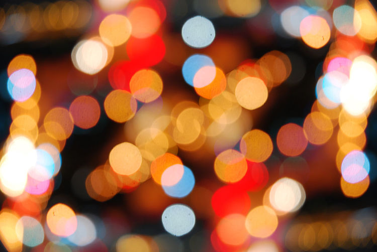 Defocused image of illuminated light