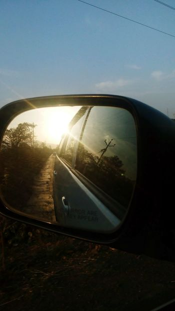 Mirror View Sunset_collection Holiday Memories Rearview Mirror Long Drives The Great Outdoors With Adobe The Essence Of Summer My Commute Mein Automoment On The Way The Drive