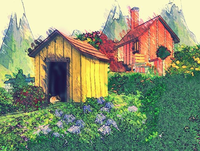 a bit of my Sims3 world edited in Paperartist ... Thesims3 Thesims
