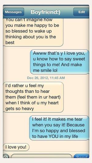 My boyfriend is so sweet!! :)