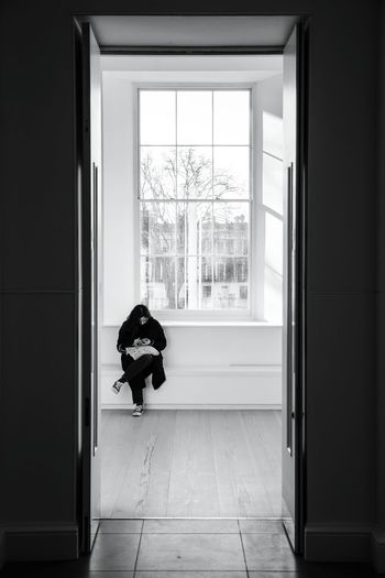 A waiting game. Window Sill Window Indoors  Gallery Black & White Blackandwhite Photography Contrast Windows Saatchi Gallery Juxtaposition