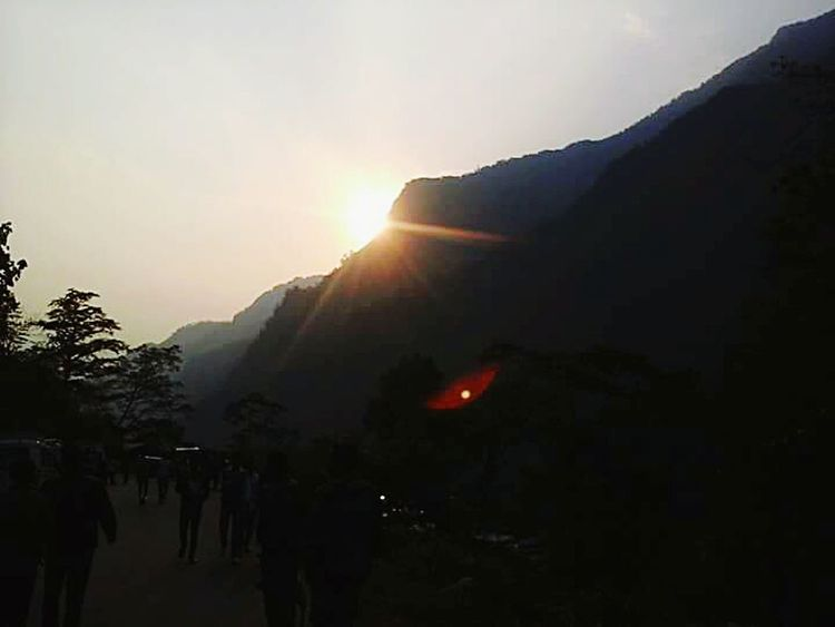Sunrise Behind The Mountains People Watching Tiger Hill Morning Walk Natural Nature Bliss First Eyeem Photo