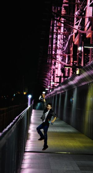 Jump around jump up and get down. Night Illuminated City One Person Full Length People Young Adult Outdoors Boy Kid Kids Being Kids Fun Awesome_shots Jump Jumping Jumping For Joy Excited Joy Joyful Bridge Memphis Memphis,tn Memphis, TN Big River Crossing Mississippi River First Eyeem Photo